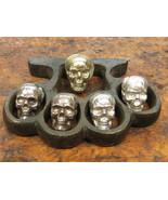 Intense Crude Collection of Hand Cast Sterling Silver Bullion Ingot  Skulls - $985.00