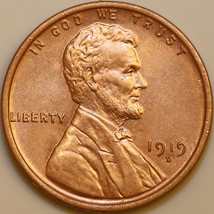 1919 D Lincoln Wheat Cent - Red Gem BU / MS RD / UNC - $185.00