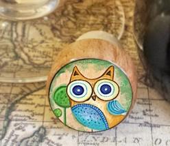 Owl Wine Stopper, Woodland Handmade Kitsch Owl and Tree Cork Bottle Stopper - $8.86