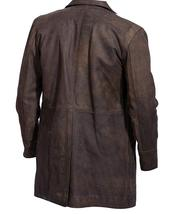 John Hurt War Costume Doctor Who Brown Leather Coat image 2
