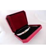 US SELLER! Screw Driver Bracelet Set. WHITE Gold Plate, Med. Size 19cm 7... - $49.95