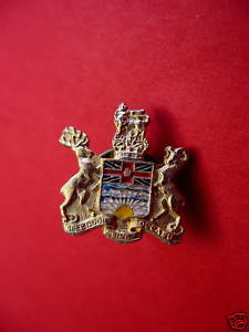 BRITISH COLUMBIA Lapel Pin Hat Pin Collector Souvenir Vintage BC. Coat of Arms Bonanza