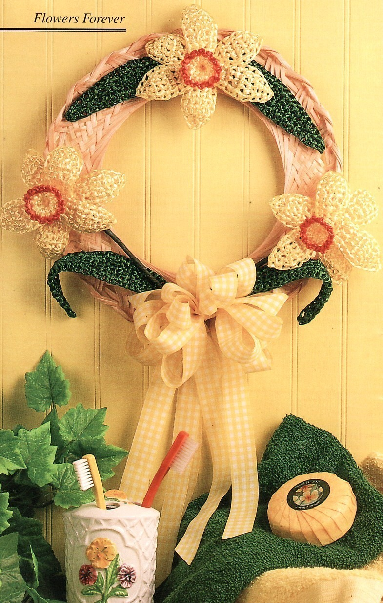Butterfly Wall Hanging Crochet Pattern Amp Daffodil Wreath