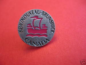 NEW BRUNSWICK Lapel Pin Hat Pin NOUVEAU Collector Souvenir Vintage Canada Ship