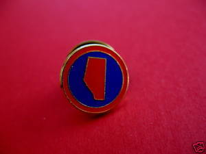 ALBERTA Canada Lapel Pin Hat Pin PROVINCE SHAPED Collector Souvenir Vintage