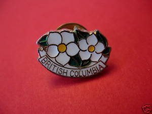 BC. BRITISH COLUMBIA Lapel Pin Hat Pin FLOWERS Collector Souvenir Vintage