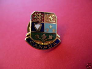 CANADA Lapel Pin Hat Pin Collector Souvenir Vintage Collectible Coat of Arms Bonanza