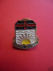 BRITISH COLUMBIA Lapel Pin Hat Pin Collector Souvenir PROVINCE Canada Vintage