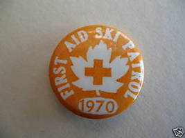 Vintage FIRST AID SKI PATROL 1970 Pinback Button Badge - $9.99