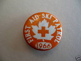 Vintage FIRST AID SKI PATROL 1966 Pinback Button Badge - $9.99