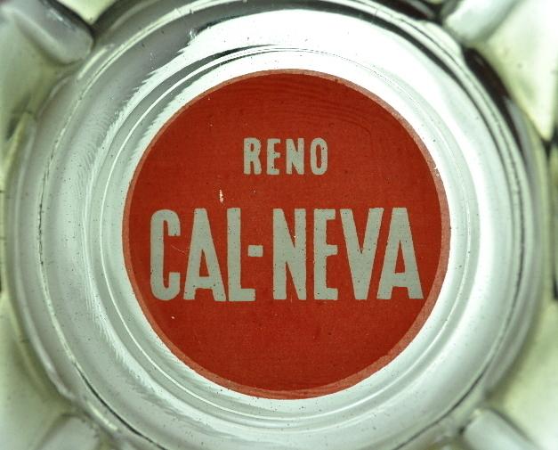 Reno Cal Neva Casino Green Glass Ashtray vintage Logo