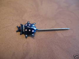 Tiny Hand Painted Beetle Lady Bug Lapel Pin Hat Pin Stick Pin Vintage Co... - $2.99