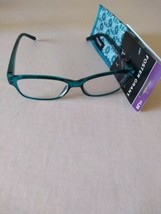 Foster Grant Reading Glasses 1.25 With Cloth Case Pearla Teal  - $14.99