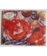 Counter Art Tempered Glass Cutting Board, Lobst... - $16.50