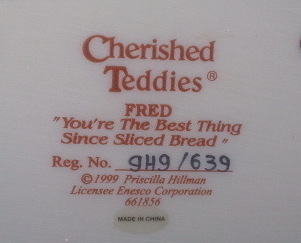 Enesco Cherished Teddies Fred No. 661856