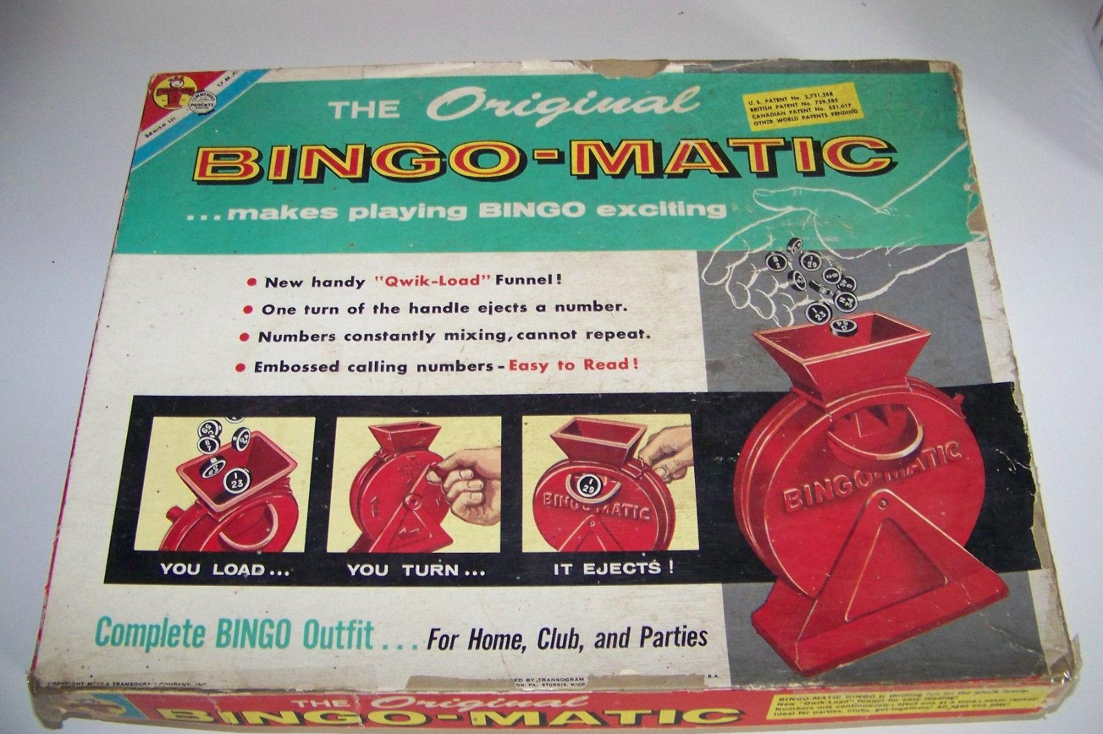 Vintage Bingo-Matic Transogram Game in Box 5984