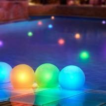 Set 12 Pack Mood Light Glow Balls Pools Floating Pool Lights Color Changing LED - $59.99