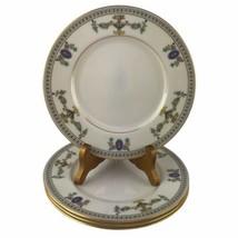 4 Vintage Lenox The Colonial Salad Plates Porcelain Gold Raised Enamel 8... - $46.75
