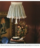 Scalloped Lampshade Cover Vanna Crochet Pattern/Instructions Leaflet NEW - $0.90