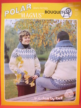 Vintage Bouquet Knit Knitting Patterns ADULTS Cardigan Sweaters Size 34 - 44 - $6.95