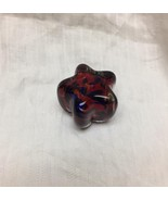Red White and Blue Star paperweight by Prestige Art Glass Elwood Indiana - $9.90