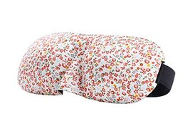 2Pcs Lovely Floral 3D Sleep Eye Mask Eyepatch Blindfold Shade for Aid Cover Trav