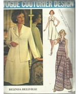 Vintage Couturier Design Pattern-Belinda Bellville-Misses Dress & Jacket... - $10.35