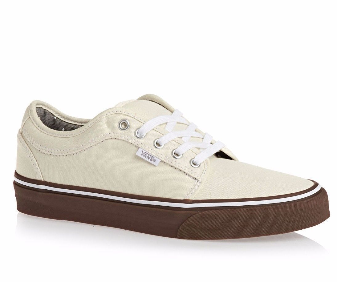 VANS Chukka Low White/Gum UltraCush Pro Skate Shoes MEN'S 7 WOMEN'S 8.5