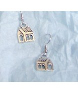 sweet country church earrings with a dangle of ... - $11.99