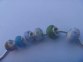 6 charms lampwork murano glass pandora style 925 silver FREE POSTAGE WORLD - $9.90