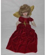 "PRETTY 14"" Porcelain Bisque ANGEL Half Doll - $28.84"