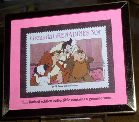 Disney Villian Curella Di Vil Framed LE Collectible