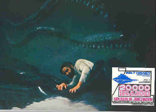 20,000 Leagues Under the Sea Giant Squid Lobby Card