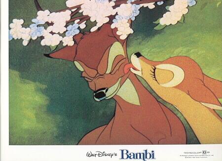 Disney Bambi & Gril Friend first kiss rare