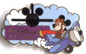 Disney Mickey Mouse Airplane pilot Earforce 1 Pin/pins