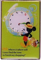 Disney Clock Watching Mickey Japan Pin/Pins