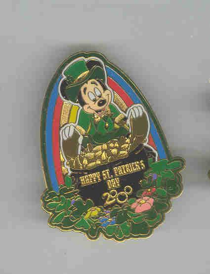 Disney Mcikey st patricks day LE retired pin/pin
