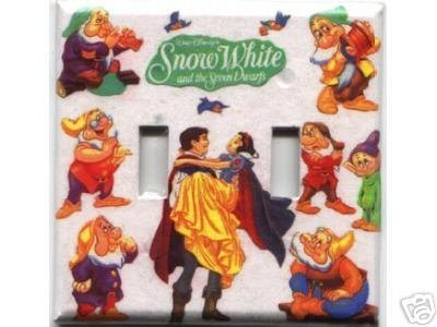Double Light Switch Plate Cover - Snow White & 7 Dwarfs