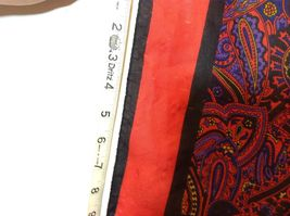 Beautiful Square Multicolor Paisley Patterned Scarf image 3