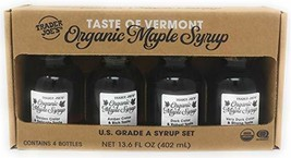 Trader Joe's - Taste of Vermont Organic Maple Syrup Sampler - U.S Grade A Syrup