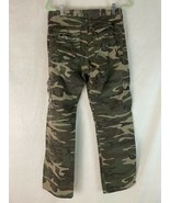 Wrangler Jeans Cargo Pants 30 X 32 Army Fatigue Camo Zip Front Utility P... - $38.61
