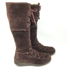 Timberland Knee High Moorland Hollace Womens Boots Sz 7.5 M Brown Suede ... - $759,11 MXN