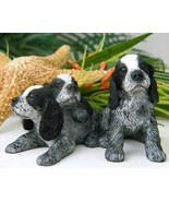 Cocker Spaniel Pups Blue Roan Enesco Puppies Dog Figurine 2004 - $16.95
