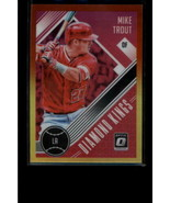 2018 DONRUSS OPTIC RED AND YELLOW #13 MIKE TROUT NM-MT ANGELS DIAMOND KING - $3.95