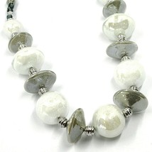 Necklace Antica Murrina Venezia, CO955A02, Discs Ovals Spheres, White, 45 CM image 2