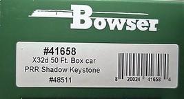Bowser HO Scale 41658 PRR X32d 50' Box car w/ PRR Shadow Keystone # 48511 image 3