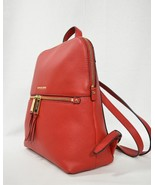 NWT! Michael Kors Leather Rhea Zip Medium Slim Backpack in Bright Red - $239.00