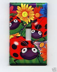 Single Light Switch Plate Cover Lady Bugs