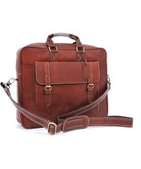 Leather briefcase for Men, Brown leather Handmade Bag, Laptop bag,Gift for him  - $88.99
