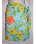 Sarong Wrap Skirt Swimsuit Bathing Suit Cover Up Multi Color Floral size... - $21.75
